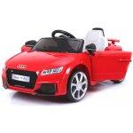 Beneo Elektrické autíčko Audi TT RS 12V 24 GHz dálkové ovládání otvíravé dveře EVA kola kožené sedadlo 2 X motor červené