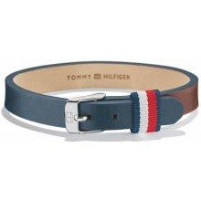 299648abe Tommy Hilfiger Modro-hnědý kožený náramek TH2700955