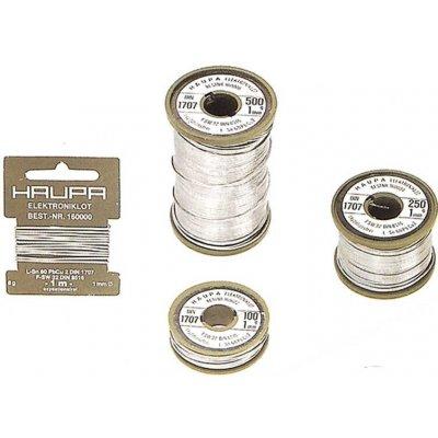 Cín k pájení Sn60Pb40 s tavidlem pr. 1 mm, 9 g cívka, Haupa