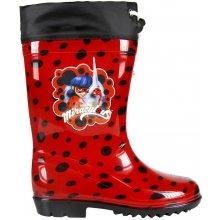 Disney Brand Dívčí holínky Ladybug červené