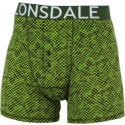 d7abda97cc Lonsdale Pánské boxerky Lonsdale DIGI - pánské spodní prádlo KPP 422013GREEN