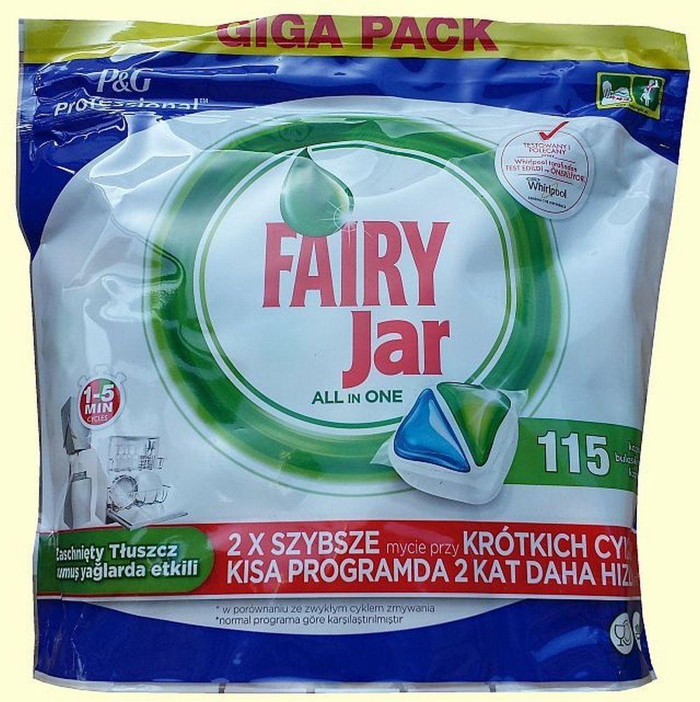 Jar Fairy Professional All in 1 kapsle do myčky nádobí 115 ks