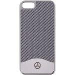 Pouzdro Mercedes Apple iPhone 5 / 5S / SE-Benz Carbon stříbrné