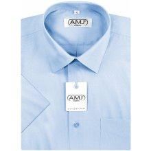 AMJ Classic pánská košile s krátkým rukávem - azurová