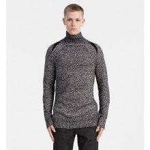 Calvin Klein J30J305477 Pánský svetr 099 BLACK/WHITE