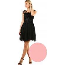 fa4f26e79942 Dámské koktejlové šaty s krajkou 418737 světle růžová