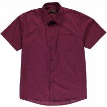 Pierre Cardin Corduroy Shirt Mens Burgundy