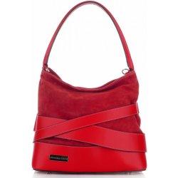 54d2ce2bf9263 Vittoria Gotti módní a elegantní kožená italská kabelka červená ...