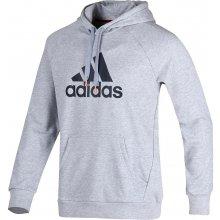 Adidas Performance Mikina Logo Hood S21338 šedá f1a8dfd1dc