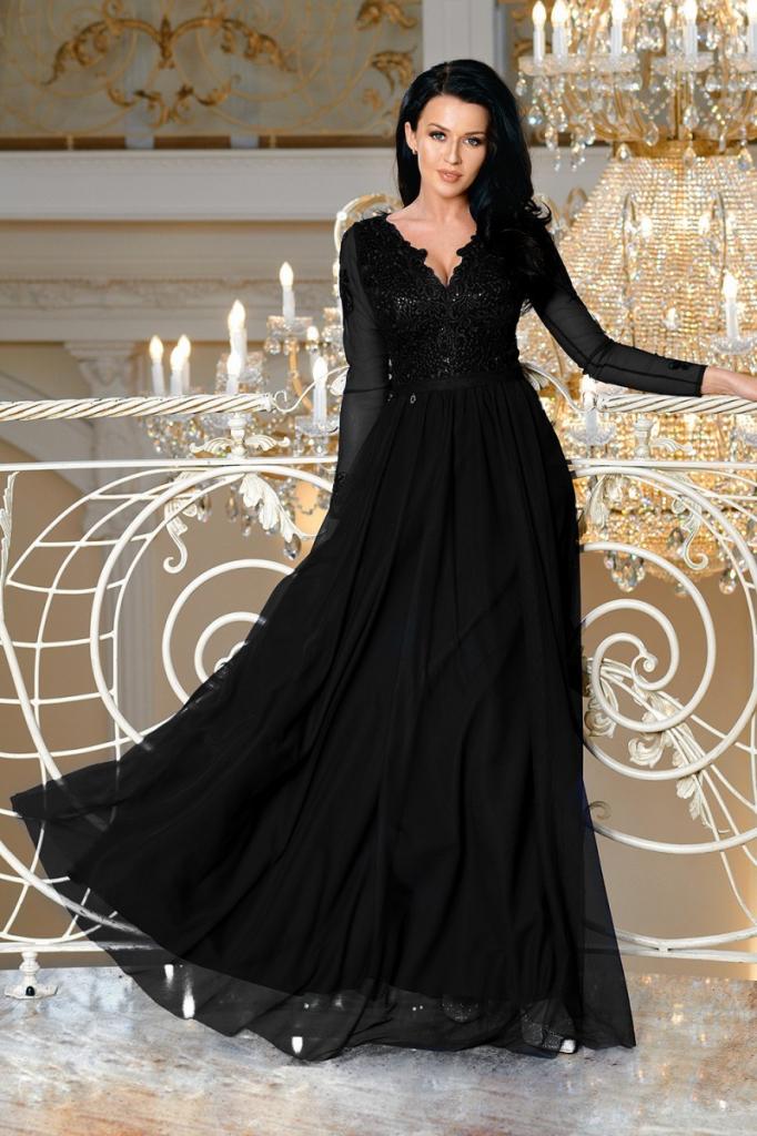 82b22356c80b Bicotone dámské dlouhé šaty Fatima černá od 2 800 Kč - Heureka.cz