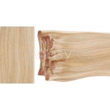 czVlasy.cz Clip in vlasy odstín 24/613 S: Základní sada - délka 38 cm, hmotnost 70 g