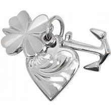 Troli Stříbrný přívěsek láska štěstí naděje 441 001 00005 04
