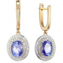 df1752923 iZlato Design Tanzanitové náušnice z kombinovaného zlata s diamanty IZBR635N