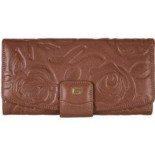 GIUDI dámská hnědá kožená peněženka 6529 STR VLV