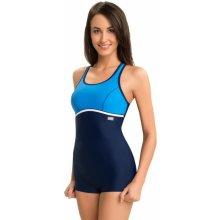 Carvico Ines jednodílné plavky s nohavičkou modrá b064d889bd