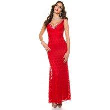 Koucla in-sat1234re Dlouhé plesové šaty červené