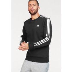 Adidas Fleecová mikina Essentials 3-Stripes Crew Černá e71ca5afb06