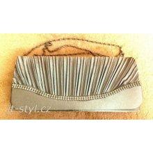 luxusní saténová kabelka psaníčko stříbrně šedé