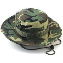 Maskáčový klobouk v klasickém střihu boonie
