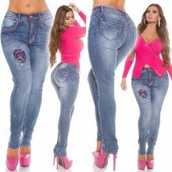 2f88a386609d Filtrování nabídek Push up džíny s růžovými švy pro plnoštíhlé ...