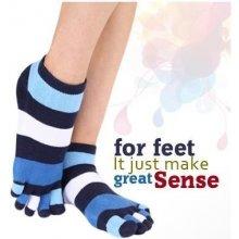 ToeToe TRAINER prstové kotníkové ponožky tm. modrá