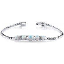 Eppi stříbrný náramek s bílými opály Lesyly BR33929