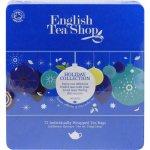 English Tea Shop Dárková plechová kazeta Modrá Vánoční modré ozdoby BIO 72 sáčků