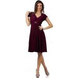 Krátké švestkové šaty s bolerkem Betty Plum alternativy - Heureka.cz 3643401de2