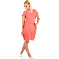 Volné dámské letní šaty na pláž 333051 korálová dámské šaty ... 4111cb1b94