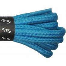 Kulaté modré bavlněné tkaničky 70 cm
