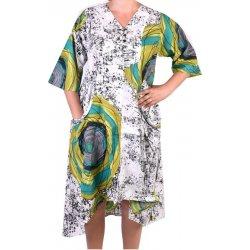 Dámské šaty Dlouhé letní šaty halena květinový potisk bílá e87b970a20