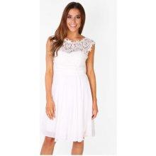 Eva   Lola dámské společenské plesové šaty bílá 7603dcfc17