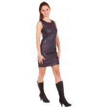 Koženkové šaty 27377 tmavě fialová 27b04e6ffe2
