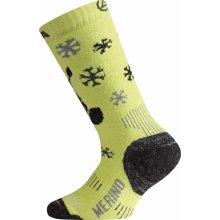 Lasting Merino ponožky junior lyžařské WJS 689 zelená