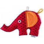 Šapitó Slon červený černý puntík