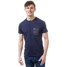 Lyle And Scott Mens Check Pocket T Shirt Navy