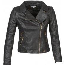 Betty London kožená bunda Brunette černá