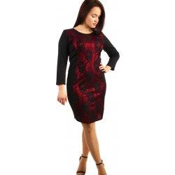 8d8b0006252 Dámské šaty YooY společenské šaty s krajkou pro plnoštíhlé červená