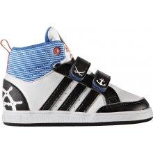 Adidas Chlapecké kotníkové tenisky HOOPS bílo-černé