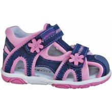 1b7e351e4dc8 Protetika Dívčí sandály Ibiza - modro-růžové