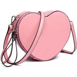 Miss Lulu menší crossbody dámská kabelka ve tvaru srdce Růžová ... 4d9cd7401d1