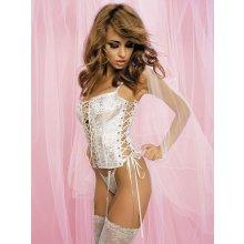 Obsessive Amoresa korzet corset bílý