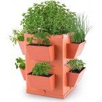 Waldbeck Herbie Hero květináč 8 misek na rostliny PP cihlová barva GT6 - Herbie-Hero