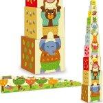 Vilac Dřevěná hračka Věž z kostek zvířátka