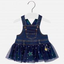 6360ba3830cc MAYORAL dívčí tylová sukně s denim kšandami modrá