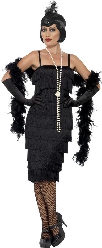Karnevalový kostým Flapper dlouhé šaty černé - Seznamzboží.cz 28cf35d8cd9