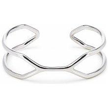 Náramek Cuff Bracelet stříbrný LK9