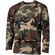 MFH tričko s dlouhým rukávem vzor woodland
