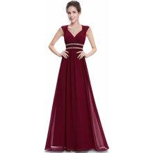 Ever Pretty plesové dlouhé šaty bordó 3d3158de0b