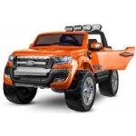Dimix elektrické autíčko Ford Ranger 4x4 oranžové 4 motory R/C 24GHz EVA kola kůže